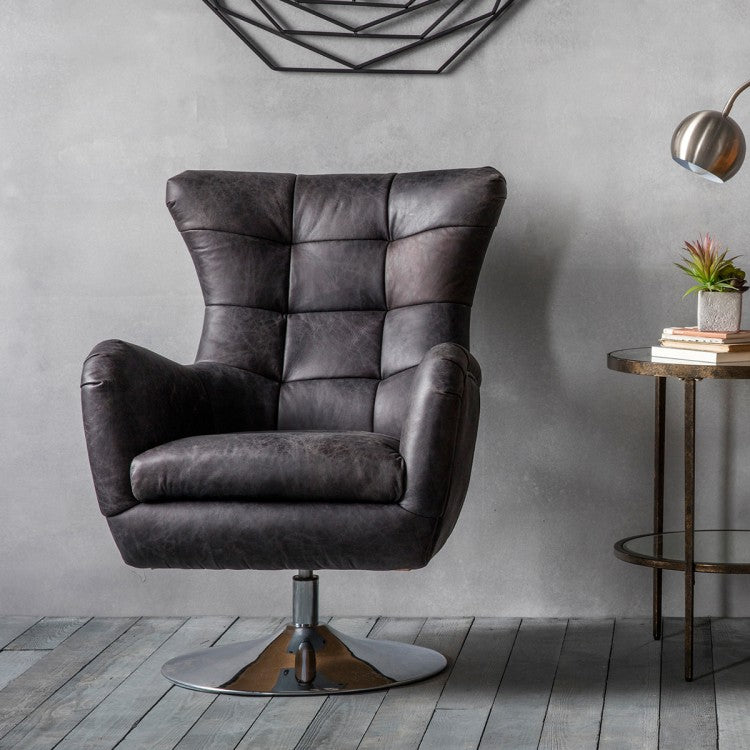 Bristol Swivel Chair Antique Ebony
