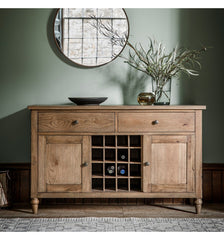 Country Large Oak Sideboard W1305 x D450 x H800mm