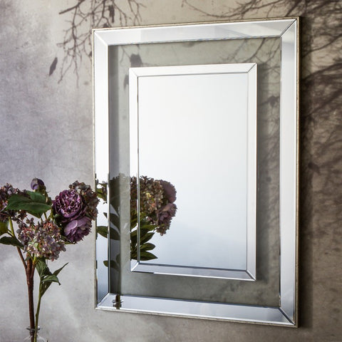 Rectangle Mirror Champagne W680 x D25 x H980mm