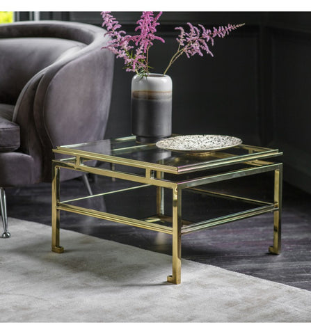 Chloe Side Table Gold W570 x D570 x H380mm