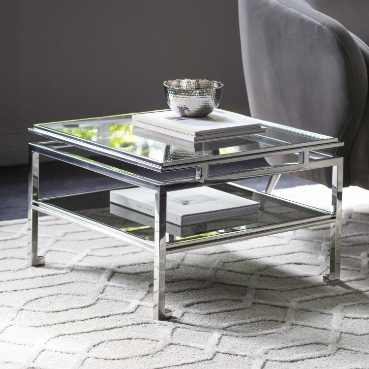 Chloe Side Table SILVER W570 x D570 x H380mm