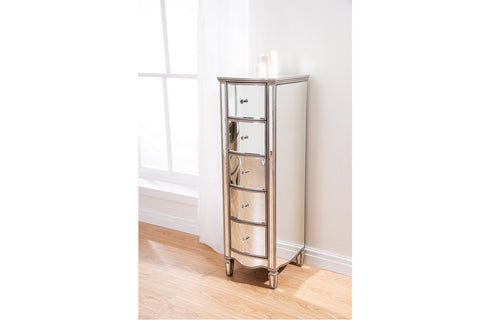 Eva Mirrored tall narrow chest