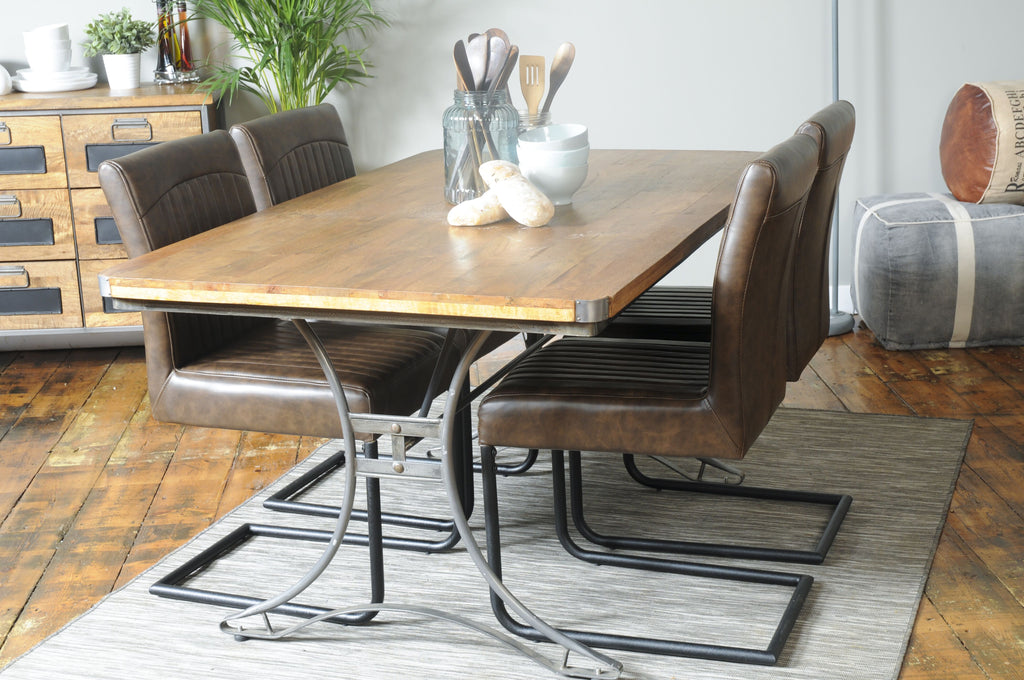 Industrial style re engineered dining table