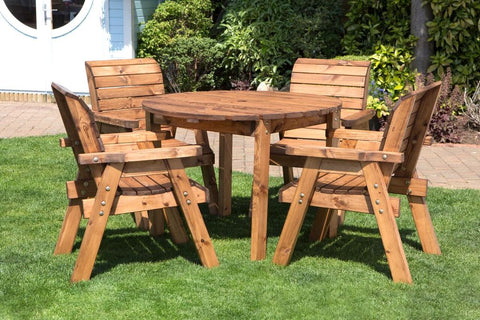 Four Seater Circular Table and chairs Garden Furniture Set