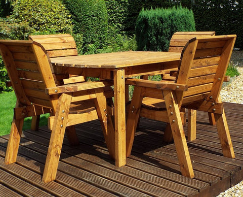 Four Seater Rectangular Table 4 CHAIRS GARDEN Set