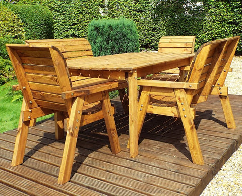 Six Seater Rectangular Table Set Garden Furniture