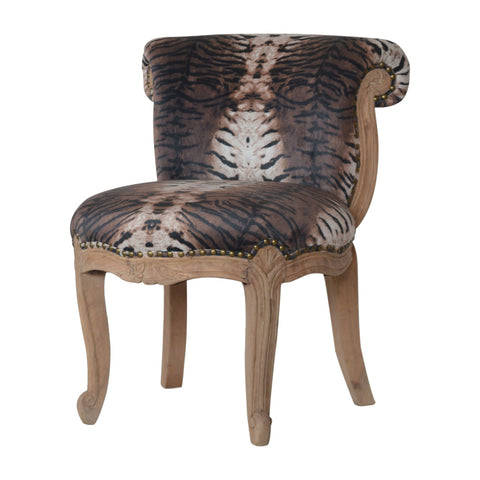 Animal print Tiger Printed Studded Chair bedroom chair SALE RRP £259