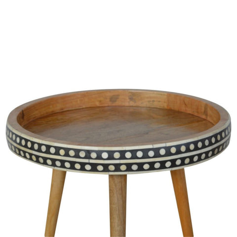 Patterned Nordic Style End Table