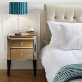 Manhattan 2 drawer bedside table