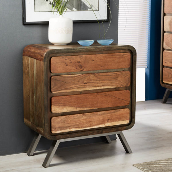 INDUSTRIAL STYLE Aspen 4 Drawer Wide Chest