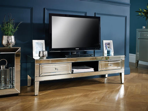 The Verona mirrored TV Media Unit- Lounge Furniture - Home interiors