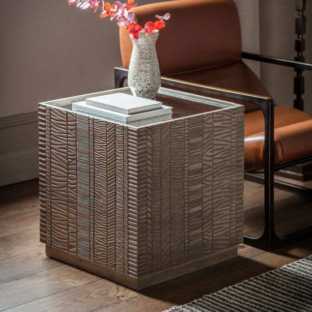 Contemporary Cubed side table