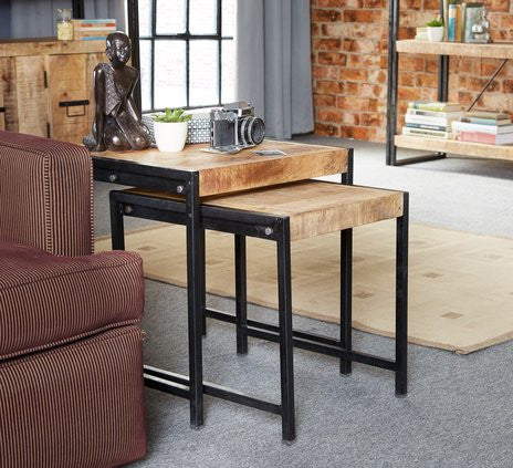 Cosmo Industrial Style Nest of 2 Tables