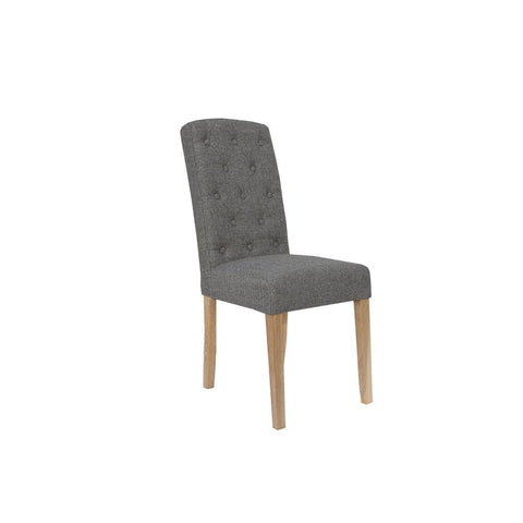 A PAIR OF  Button Back Chairs DARK GREY