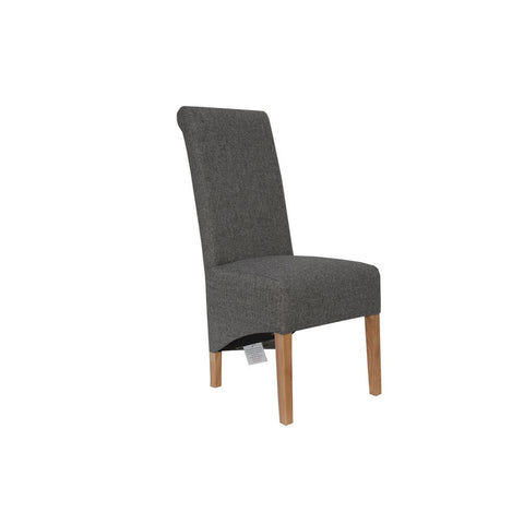 A PAIR OF  Scroll Back Chair - DARK GREY