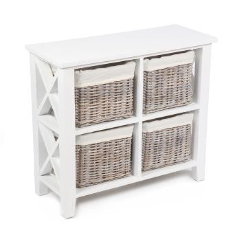 4 basket Square X cabinet w/linings