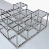 Ascot Stainless Steel  Large Coffee Table