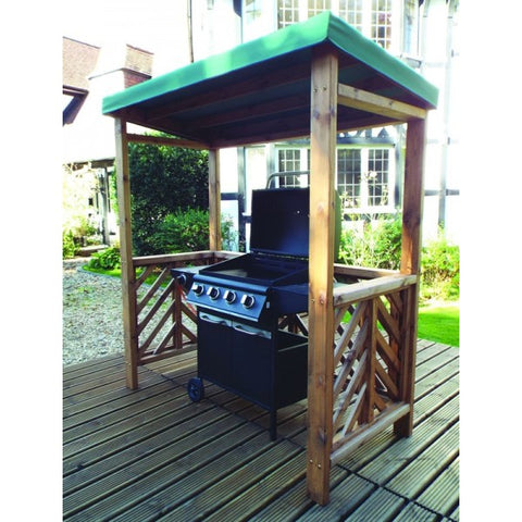 Hand Crafted BBQ shelter with canopy garden furniture
