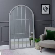 Darcey Large Arched Framed Mirror Grey