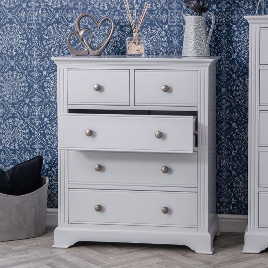 Brunswick Grey Painted 2 over  3 drawer Chest Of Drawers