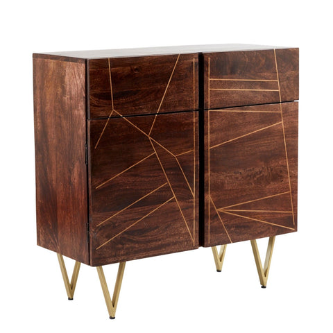 Dark Gold 2 Door Medium Sideboard