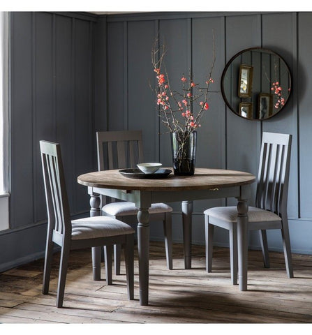 Cookham Round Extending Dining Table Grey