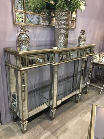 STYLISH The Belfry Collection Mirrored Display Console hall table.
