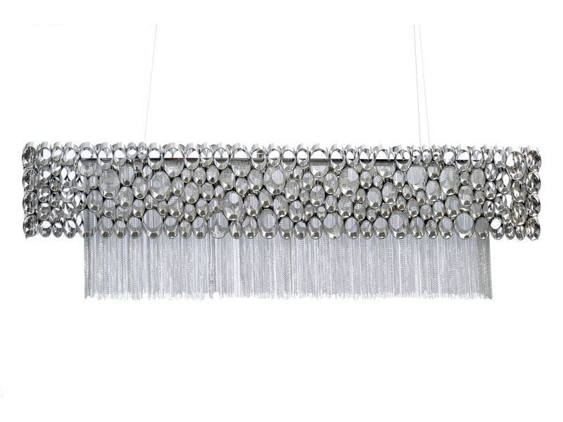 Stunning nickel rectangular chandelier light Chandelier