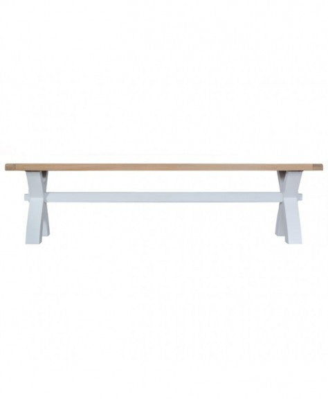 Titanic Grey Oak Small Cross Bench