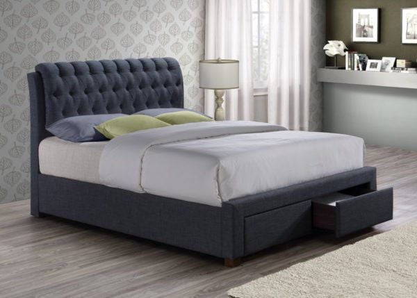 VENICE 2 Drawer Fabric DOUBLE Bed