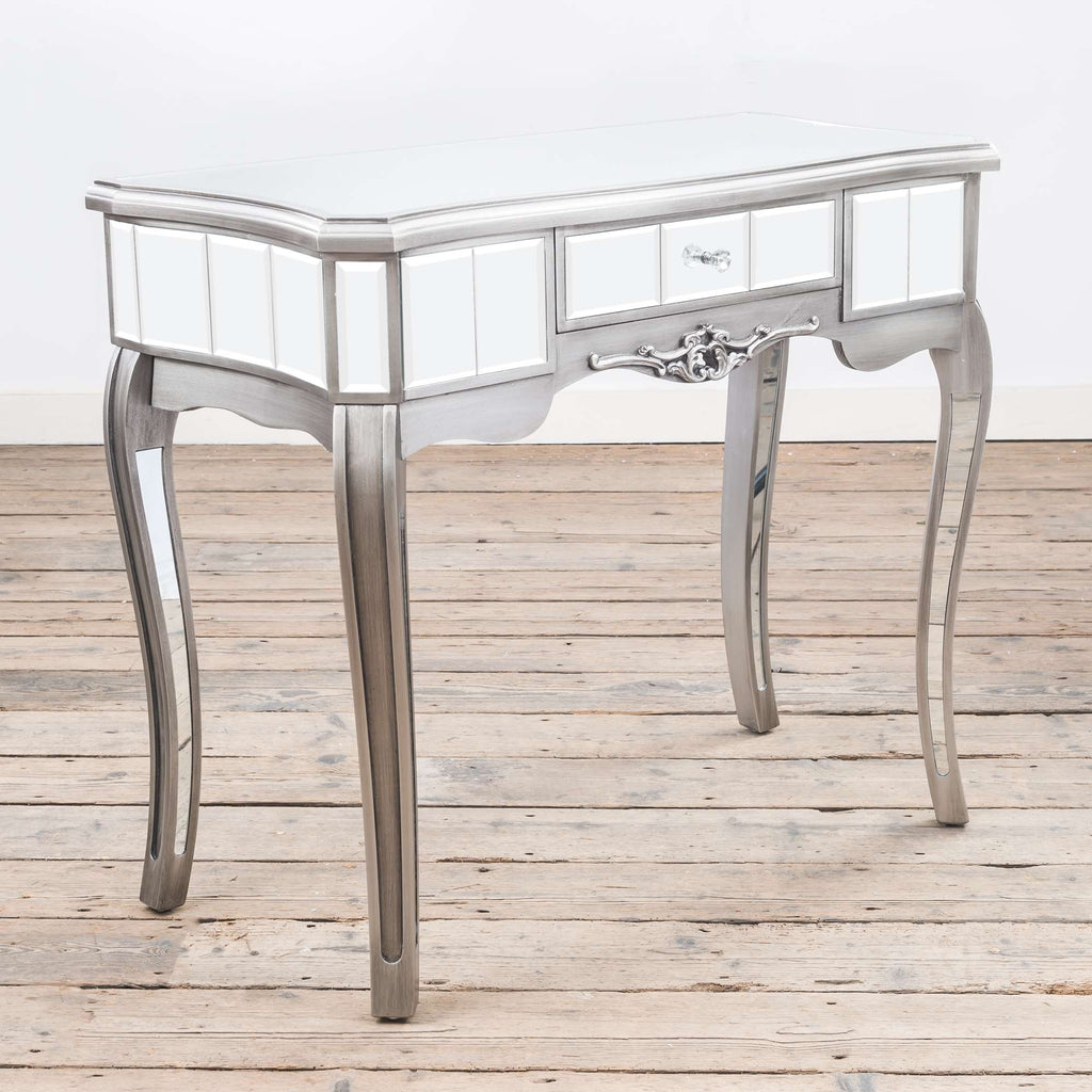 Argente Mirrored Console Dressing Table - Antique Silver