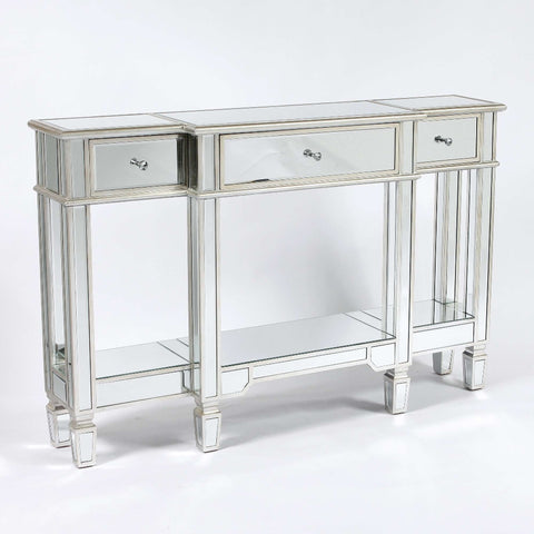 The Silver Belfry mirrored console table,