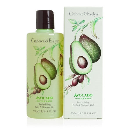 Avocado Olive & Basil Revitalising Bath & Shower Gel 250ml
