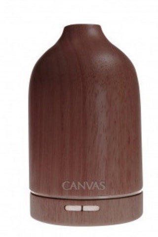 Canvas Wooden Ultrasonic Aroma Diffuser - Dark Wood