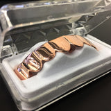 14K ROSE GOLD PLATED 8 TOOTH TOP GRILLZ - FANATICS365