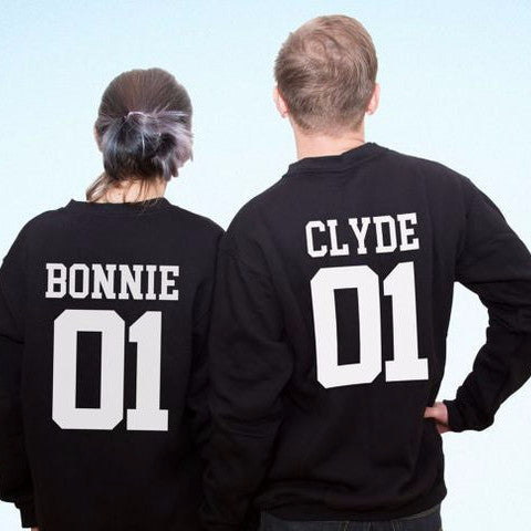 Bonnie & Clyde Couples SweatShirts - FANATICS365