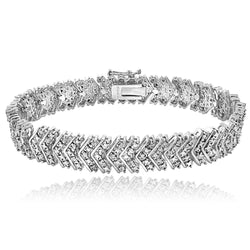 1 Carat TDW Diamond Chevron Bracelet in Brass - FANATICS365
