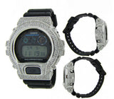 CASIO GSHOCK DW6900 ICED OUT 14K White Gold Plated Lab Diamonds 5CT BLING Watch - FANATICS365