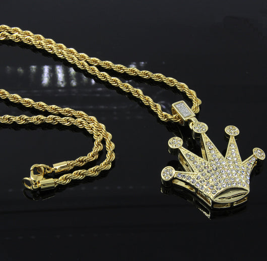 Iced Dome Crown Hip-Hop Pendant 24