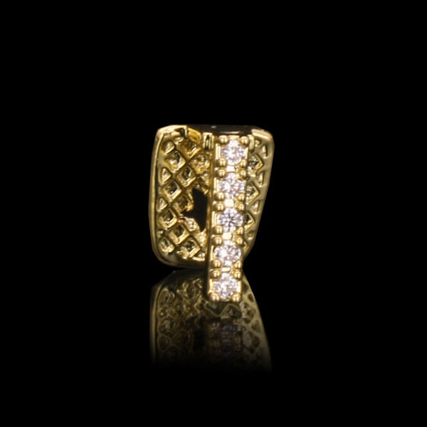 K GP Top or Bottom CZ Tooth Gap GRILLZ - FANATICS365