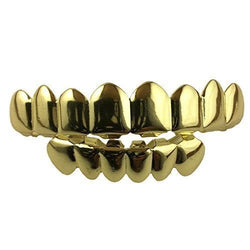 14K GP Grills Grillz 8 Top 6 Lower Set - Player II - FANATICS365
