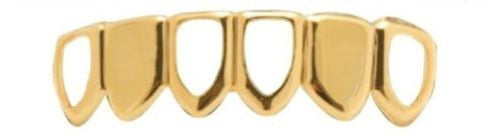 14K GP Grills Grillz - Open Face Bottom Lower #2 - FANATICS365