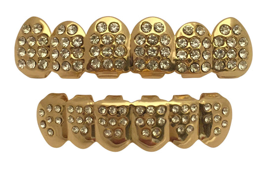 Iced 14K GP Grills Grillz Top Bottom Set - FANATICS365