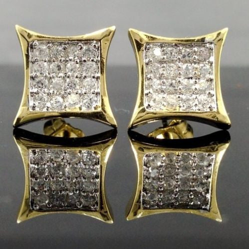 14k GOLD Finish Simulated Diamond EARRINGS - FANATICS365