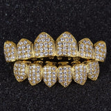 18K GP CZ Top & Bottom Iced Out GRILLZ Set - FANATICS365