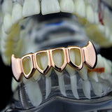 Open Face 14k Rose Gold Plated Lower Bottom Grill - FANATICS365