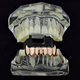 14k Rose Gold Plated Bottom Fangs Grill - FANATICS365