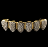 18K GP CZ Micro Pave Top Bottom GRILLZ SET - FANATICS365