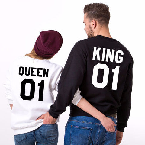 King & Queen Couples SweatShirts - FANATICS365