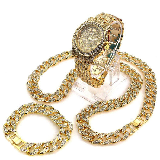 THE PLAYER BLING BOX! HIP HOP DIAMOND TECHNO PAVE WATCH 30